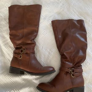 Wide calf brown riding boots size 8.5